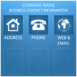 Business form, contact information background Royalty Free Stock Image