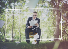 Business Formal People Frame Graphic Concept Stock Image