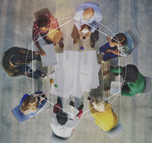 Business Formal People Frame Graphic Concept Royalty Free Stock Image