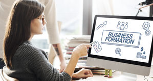 Business Formation Network Target Icons Graphic Concept Stock Photos
