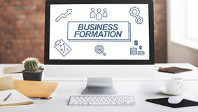 Business Formation Network Target Icons Graphic Concept Royalty Free Stock Photos