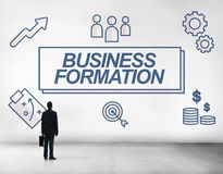 Business Formation Network Target Icons Graphic Concept Stock Photo
