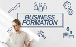 Business Formation Network Target Icons Graphic Concept Royalty Free Stock Image