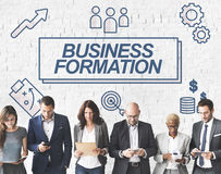Business Formation Network Target Icons Graphic Concept Stock Images