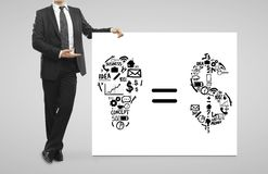 Business formula Royalty Free Stock Photo