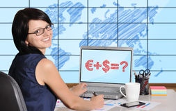 Business formulaon screen Stock Images