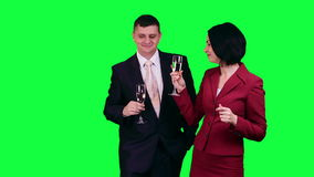 Business fourchette chroma key stock video footage