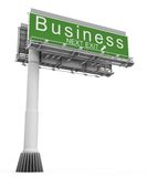 Business Freeway Exit Sign Stock Photo