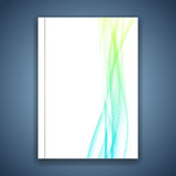 Business fresh abstract modern wave lines folder template Stock Images