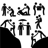 Business Friend Helping Each Other Icon Symbol Sign Pictogram Stock Photo