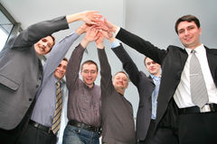Business friends stock image