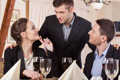 Business friends celebrating a achievement Royalty Free Stock Photography