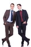 Business friends standing shoulder to shoulder Stock Photography