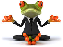 Business frog. Cute little business frog, 3D generated stock illustration
