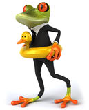 Business frog Royalty Free Stock Images