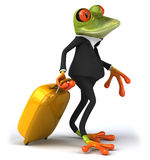 Business frog. Cute little business frog, 3D generated Stock Photo