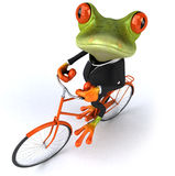 Business frog. Cute little business frog, 3D generated Stock Image