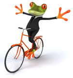 Business frog. Cute little business frog, 3D generated Royalty Free Stock Photo