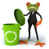 Business frog. Cute little business frog, 3D generated Stock Photography