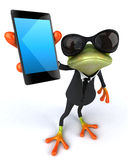 Business frog. Cute little business frog, 3D generated Royalty Free Stock Image