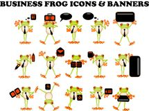 Business Frog icons web site businessman Stock Photos