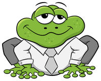 Business frog with shirt and tie Stock Images
