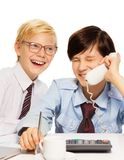 Business is fun as it is seen by kids royalty free stock photo