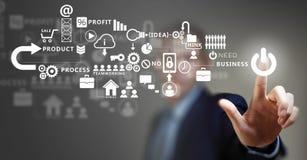 Business futuristic concept Stock Images