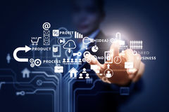 Business futuristic concept Royalty Free Stock Image