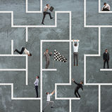Business game of maze royalty free stock image