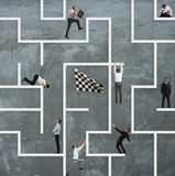 Business game of maze Stock Photo