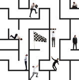 Business game of maze Stock Image