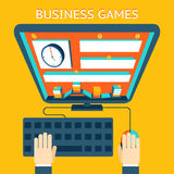 Business gamification. Making money as a game Royalty Free Stock Photos