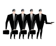 Business gang criminal. Businessman robber. Business robbery. Ve Royalty Free Stock Photos