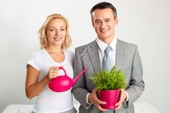 Business gardening Stock Photos