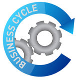 Business gear cycle illustration design Royalty Free Stock Photo