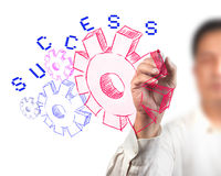 Business gear to success Stock Image
