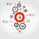 Business gear wheel Royalty Free Stock Photos