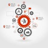 Business gear wheel Royalty Free Stock Photos