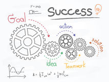 Business Gears and Success Plan. Infographic Template. Vector Illustration Royalty Free Stock Images