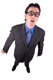 Business geek standing Stock Images