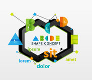 Business geometric infographic diagram layout Royalty Free Stock Images