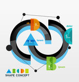 Business geometric infographic diagram layout Royalty Free Stock Photo