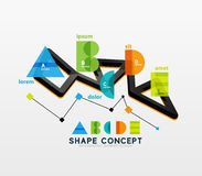 Business geometric infographic diagram layout Stock Photography