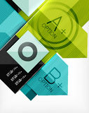 Business geometric infographic option banner Royalty Free Stock Photos