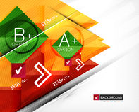 Business geometric infographic option banner Royalty Free Stock Photo
