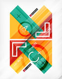 Business geometric infographic poster Stock Photos