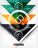 Business geometric infographic poster Stock Image