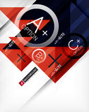 Business geometric infographic poster Stock Photography
