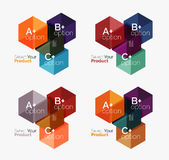 Business geometric layouts with option text Stock Photo